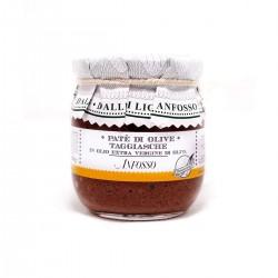 Schwarze Olivenpaste aus entsteinten Taggiasca Oliven - Anfosso - 85gr
