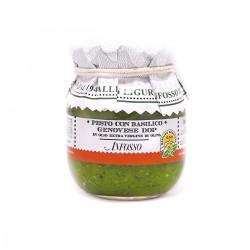 Pesto mit Basilikum Genovese DOP in Extra Nativem Olivenöl - Anfosso - 85gr