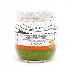 Pesto mit Basilikum Genovese DOP in Extra Nativem Olivenöl - Anfosso - 180gr
