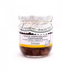 Entkernte Taggiasca Oliven in Extra Nativem Olivenöl - Anfosso - 185gr