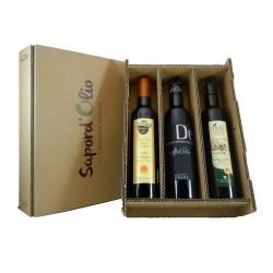 3er Natives Olivenöl Leicht Fruchtig Geschenkset - Bonamini Cetrone La...
