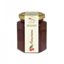 Sauer schwarze Kirschen Marmelade - Apicoltura Cazzola - 200gr