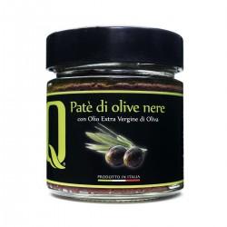 Schwarze Oliven Aufstrich Patè di Olive Nere - Quattrociocchi - 190gr