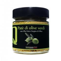 Grüne Oliven Aufstrich Patè di Olive Verdi - Quattrociocchi - 190gr