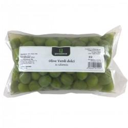 Süße Grüne Oliven in Salzlake - Quattrociocchi - 500gr