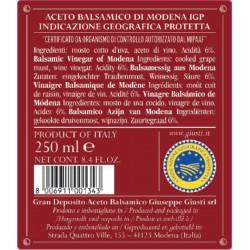 Il Denso Balsamico di Modena IGP 3 Goldmedallien - Giusti - 250ml