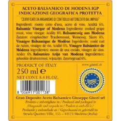 Balsamico di Modena IGP 4 Goldmedaillen - Giusti - 250ml