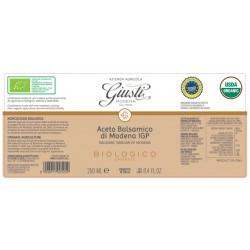 Bio Balsamico Aceto Balsamico di Modena IGP 1 Siegel - Giusti - 250ml