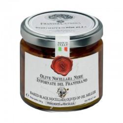 Gebackene schwarze Nocellara Oliven - Cutrera - 190gr