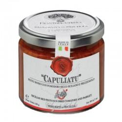 "Rote Pesto mit sonnengetrockneten Tomaten ""Capuliatu"" - Cutrera - 190gr"