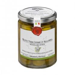 Grüne Oliven in Salzlake Nocellara Etnea - Cutrera - 290gr