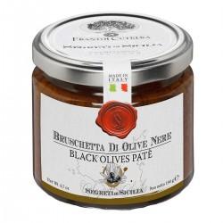 Schwarzes Olivenpaté Bruschetta di Olive Nere Tonda Iblea - Cutrera - 190gr