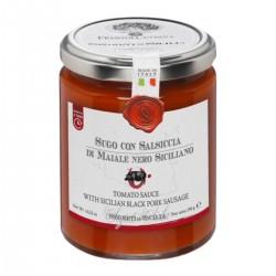 Tomatensauce mit sizilianischer Schwarzschweinewurst  - Cutrera - 290gr