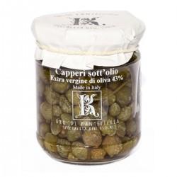 Kapern in nativem Olivenöl extra - Oro di Pantelleria Kazzen - 90gr