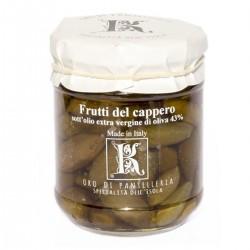 Kapernfrüchte in nativem Olivenöl extra - Oro di Pantelleria Kazzen - 90gr