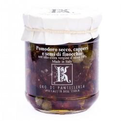 Sonnengetrocknete Tomaten und Kapern in Öl - Oro di Pantelleria Kazzen - 85gr