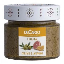 Paté aus Grünen Oliven mit Zitrusfrüchten - De Carlo - 130gr