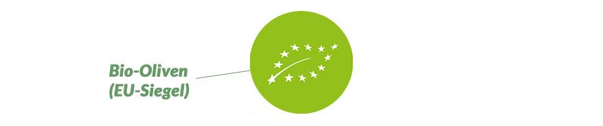 EU-Siegel italienische biologische Oliven